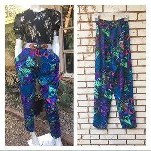 ❤️SOLD❤️80's High Waisted Botanical Trousers Pants